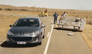 Peugeot 407 - unscathed by inferior vehicles