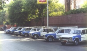 Peugeot 504 Taxis - Port Said Egypt